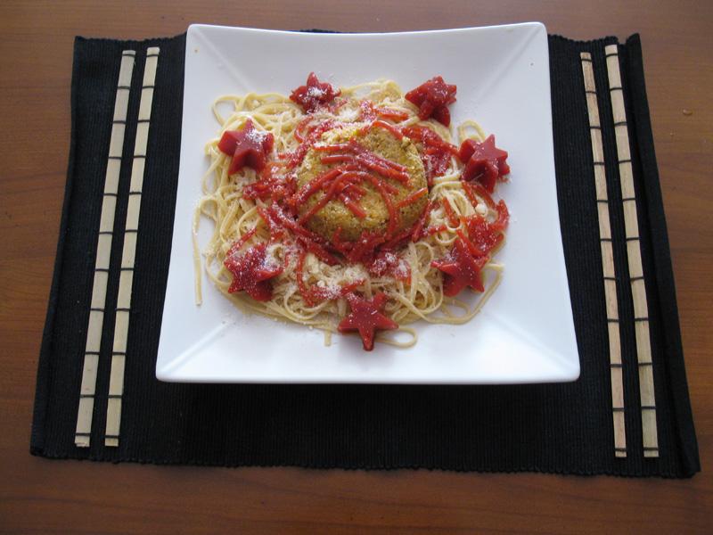 Spaghetti la bolognaise d structur e - Spaghetti cuisine moleculaire ...
